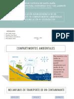 Modelación Quimiodinámica de Un Contaminante en Compartimentos Ambientales