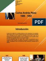 Carlos Andres Perez Segundo Periodo Linea de Tiempo