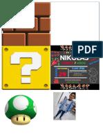 Tarjeta Mario Bros