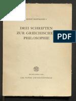 Hoffmann Ernst - Drei Schriften Zur Griechischen Philosophie (1964)