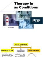 Fluid Therapy in Various Conditions