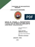 2018. Manejo Del Cultivo de Fragaria