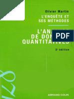 Olivier Martin-L'enquête et ses méthodes. L'analyse de données quantitatives-A. Colin (2009).pdf