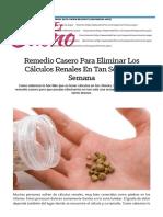 Remedio Casero Para Eliminar Los Calculos Renales - Beliefnet
