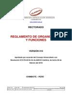 Reglamento Organizacion Funciones Proceso v010