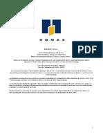 Reporte Anual de HOMEX 2013