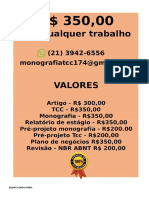 O valor é  R$ 350,00 POR qualquer  TCC OU MONOGRAFIA WHATSAPP (21) 3942-6556   consultoriatcc4@gmail.com(69)--compressed