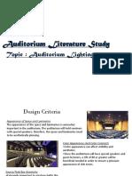 Audiorium Lighting