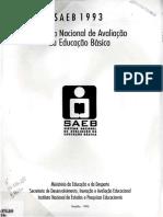 Sistema Nacional de Avaliação Da Educação Básica - SAEB 1993