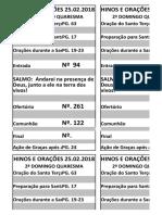 Filipetas Cantos 2ª Domingo Da Quaresma Ano b