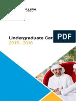 Undergraduate Catalog 2015
