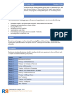 Course Outline_Standard Advance Excel 2013