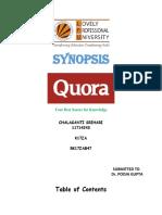 Synopsis Quora