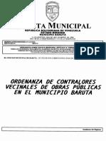 Ordenanza Contralores Vecinales de Obras Publicas Barut 20001