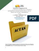 Comentarios y Aspectos Fundamentales de Las Actas de Entrega de Cargos 2018