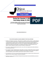 Official 2018 Ohio Midterm Election Voter Guide OCAN