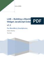 Lab - Building a Blackberry Widget Javascript Extension