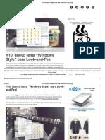 "K10, nuevo tema ""Windows Style"" para Look-and-Fee"