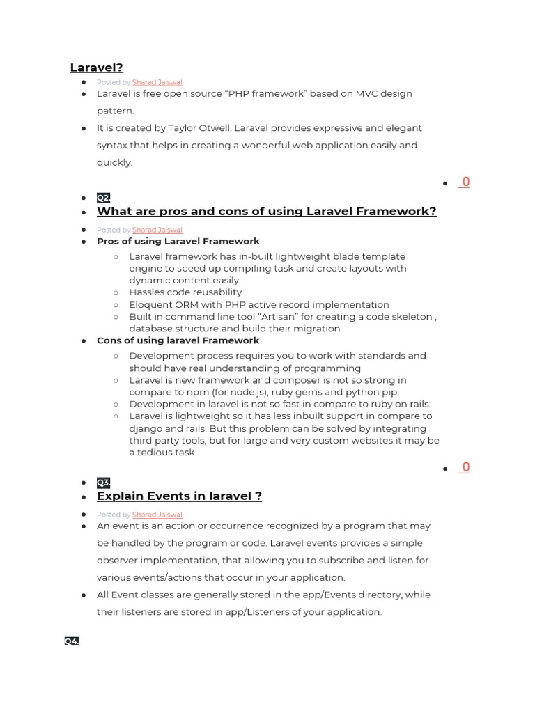 LARAVEL Interview Questions and Answers | Class (Computer
