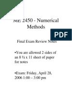 examen metodos numericos