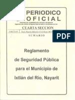 Reglamento de Seguridad Publica Para El Municipio de Ixtlan Del Rio