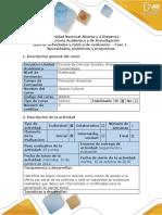 Guía de Actividades y Rúbrica de Evaluación Fase 1 - Necesidades, Problemas y Propuestas