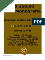é Por 350,00 Por Tcc Ou Monografia Whatsapp (21) 3942-6556 Tccmonos@Gmail.com(6)--Compressed