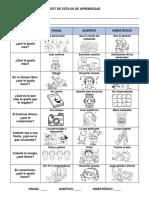 Test de Estilos de Aprendizaje- Dibujos