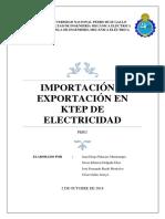 Importación y Exportación en KTEP de Electricidad