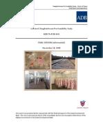 Afghan Slaughterhouse Pre-Feasibility Study ADB-RBSP November 2008