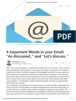 4 Important Words in Your Email_ _As Discussed.._ and _Let's Discuss..