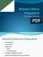Historia Clínica Psiquiatría y Psicopatología