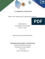 Unidad 1 Fase 3 - Realizar Proyecto Cumplimiento Guía - Proyecto 1