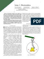 Informe 1 Electrostática