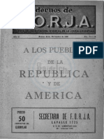 Cuaderno N°10, 11 y 12. A los pueblos de la República y de América. Noviembre 1939