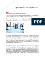 Situación y Perspectiva Del Empleo en El Perú