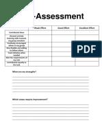 self assessment group work