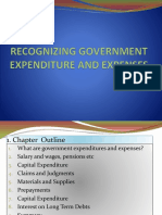 BA322 GA Notes Ch 5 - Government Expenditure Recognition