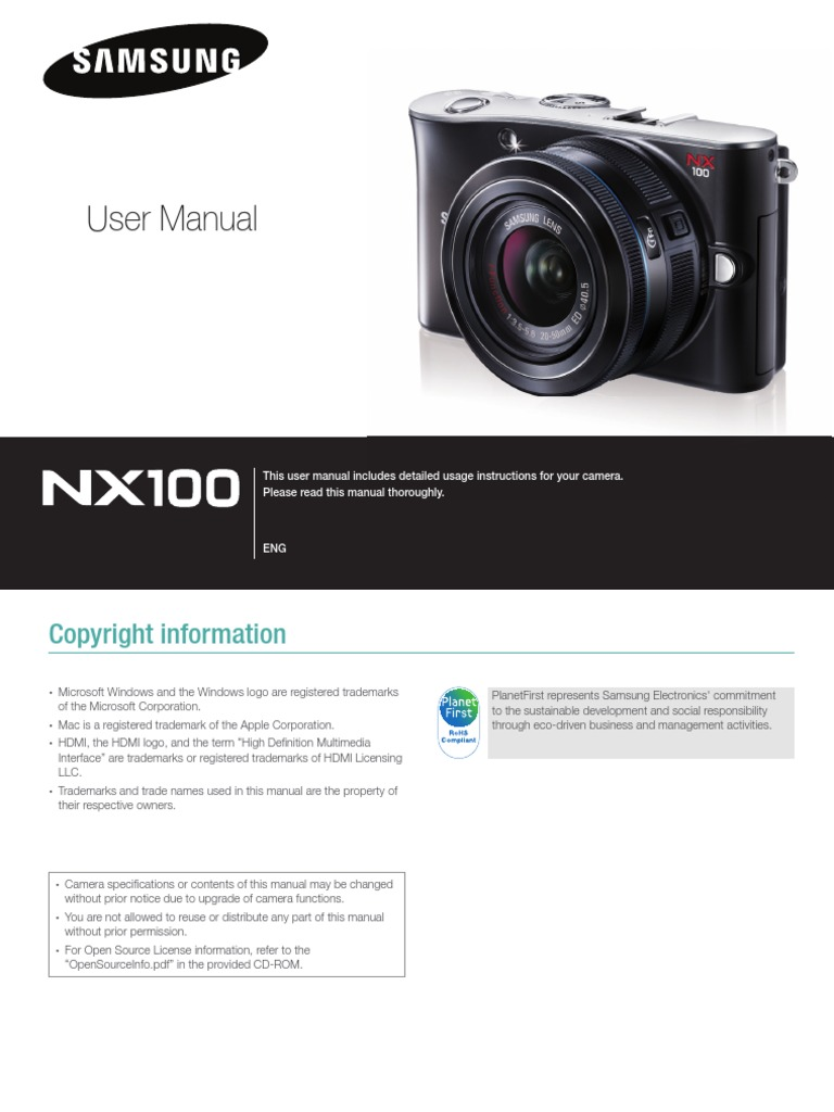 samsung camera nx100 user manual shutter speed camera lens rh scribd com PL120 Samsung Camera Manual samsung galaxy 2 camera owners manual
