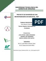 PROYECTO DE INVERSION DE UNA MICROFINANCIERA