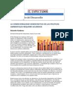 Gudynas Democracia, Ambiente y Paz en Colombia