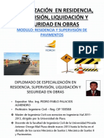 Modulo Residencia y Supervision de Pavimentos