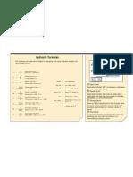 Hydraulic Formulas