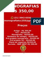 R$ 350,00 PARA  Monografia e Tcc  WHATSAPP (21) 3942-6556- tccpesquisa500@gmail.com(79) -compressed