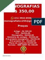 R$ 350,00 PARA  Monografia e Tcc  WHATSAPP (21) 3942-6556- tccpesquisa500@gmail.com(72) -compressed