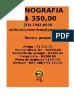 APENAS R$ 350,00 PARA  Monografia e Tcc  WHATSAPP (21) 3942-6556- monografialuciano@gmail.com(38) -compressed