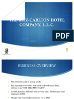 CASE ANALYSIS OF RITZ CARLTON COMPANY
