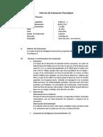 Informe de Evaluación Psicológica 1
