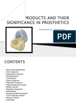 Gypsum Products and Their Significance in Prosthetics