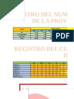 Registro de Habitantes y clima